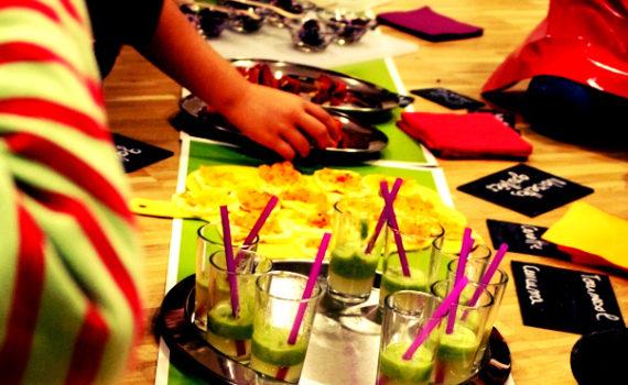 atelier cuisine enfant degustation recettes colorées